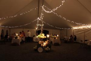 winery tent night